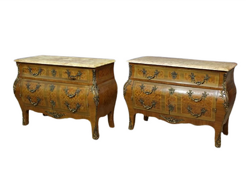 Pair of French Louis XV Style Commodes