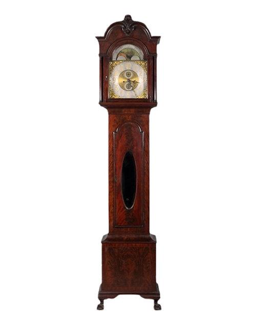 George III Style Mahogany Tall Case Clock
