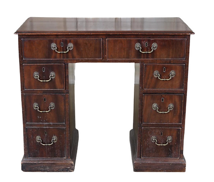 Antique George III Style Kneehole Desk