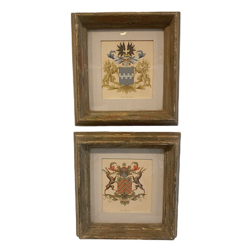 Pair of Hand Colored Engravings