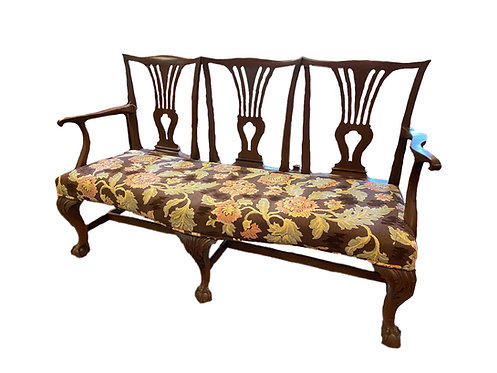 c. 1780 Period Chippendale Settee Mahogany