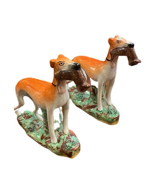 Pair of Staffordshire Dog Figurines