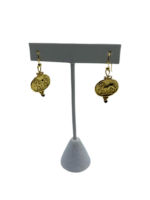 Gold Vermeil Roman Earrings