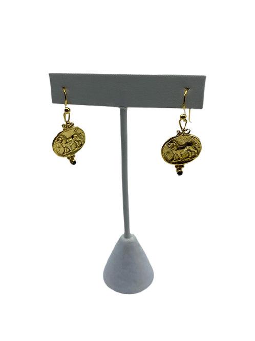Gold Vermeil Roman Earrings
