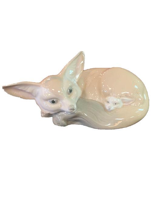 Lladro Fox & Cub
