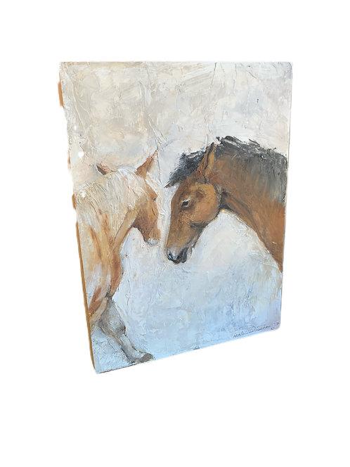 Leo and Lola Oil on Cradled Wood