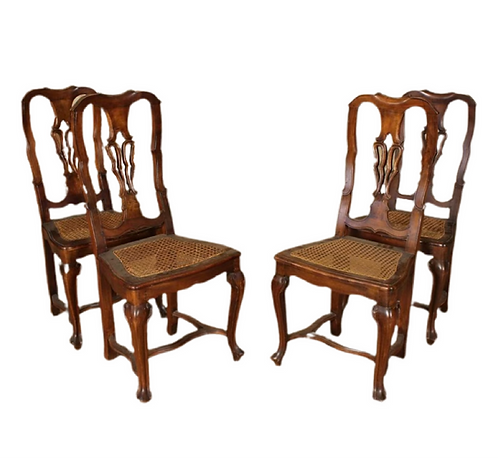 Four Iberian Baroque Style Chairs