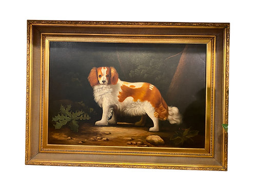 Signed Oil Painting of King Charles Spaniel