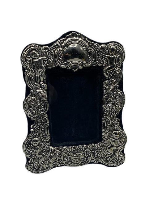 Sterling Silver Frame with Black Velvet