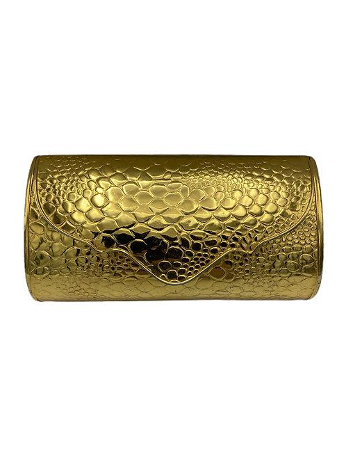 Vintage Saks Fifth Avenue Gold Metal Evening Bag