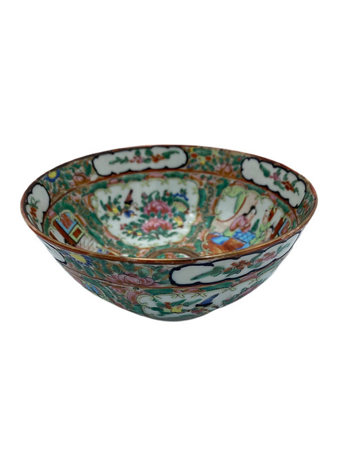 Rose Medallion Bowl 1800's China
