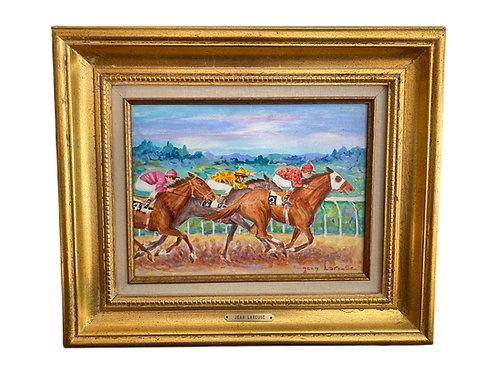 Three Jockeys Oil on Canvas
