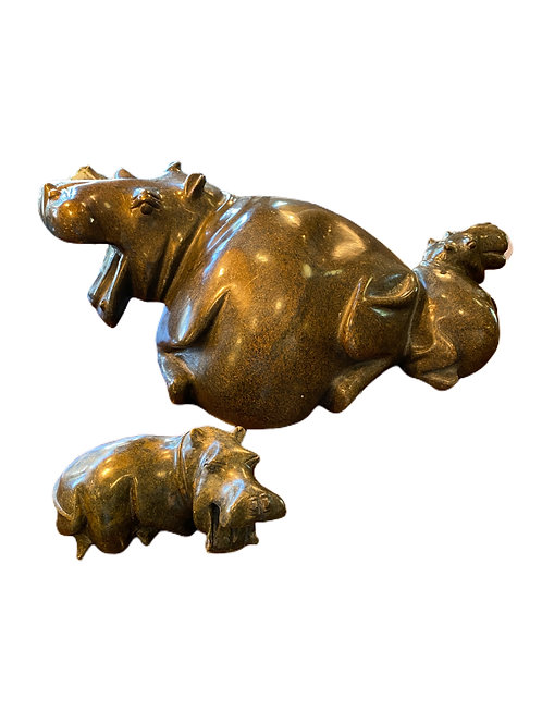 Marble Set of two Hippos