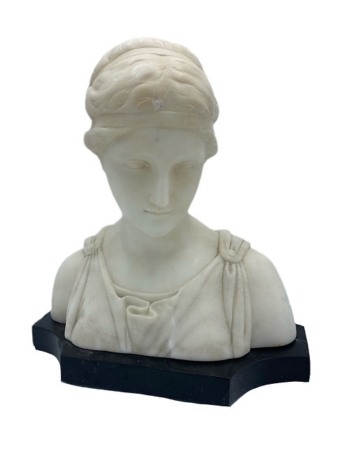 Female Marble Bust after Greek Masterpiece 1889 Italy