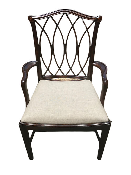 12 Theodore Alexander Chippendale Style Chairs Mahogany