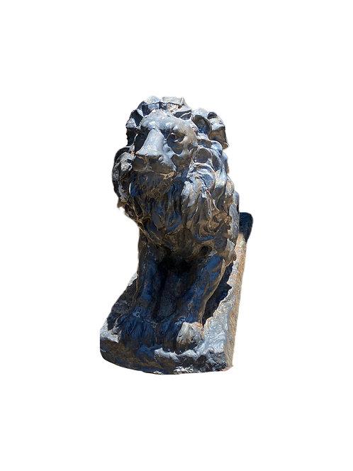 Pair of Lion Steel Statues