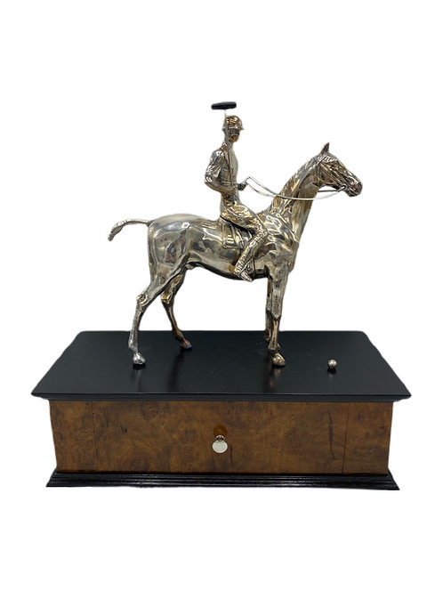 Weidlich Bros Silverplated Polo Trophy & Box