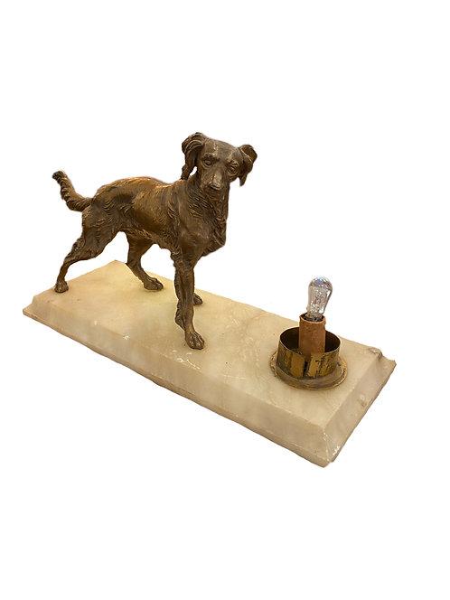 Dog Bronze on Marble