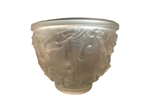 Frosted Glass Bowl Equestrian Theme