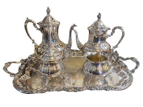 Silver Plate Vintage Tea Set