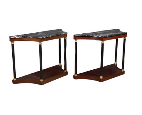 Marble Top Empire Consoles