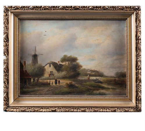 Dutch School Farm Scene