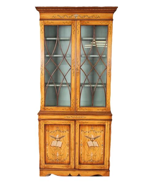 Adam Style Eagle Motif Breakfont Bookcase