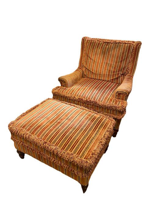 Vintage Chair & Ottoman