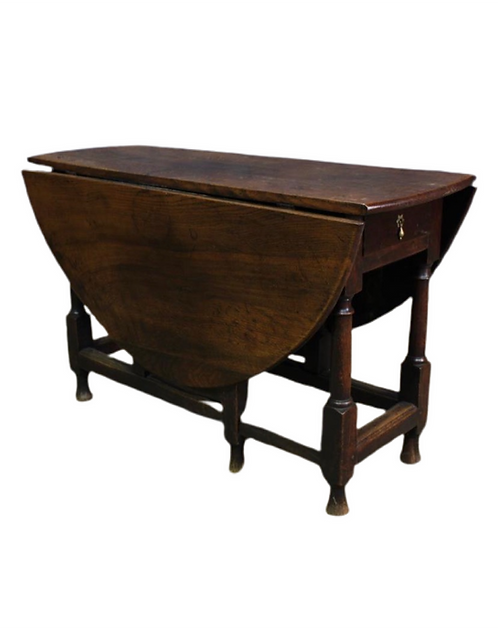 19th century Oak Drop Leaf Table