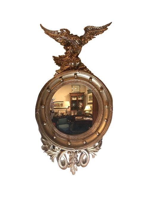 Gold Gilt Eagle Pediment Mirror