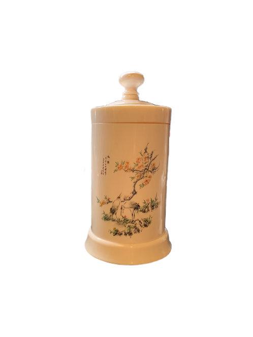 Lidded Cylinderical Ivory Box