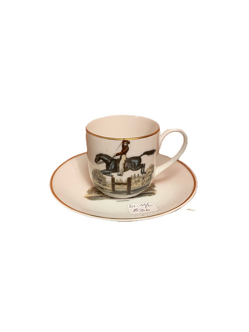 Leaping Porcelain Cup & Plate