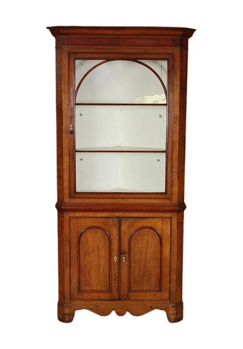 English Edwardian Corner Cupboard