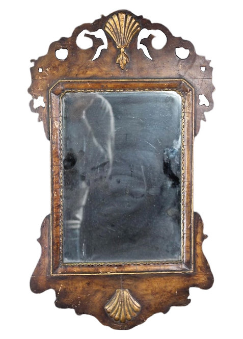 Antique English Carved and Gilt Mirror, 18th Century