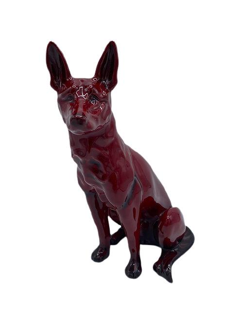 Royal Doulton Flambe Dog