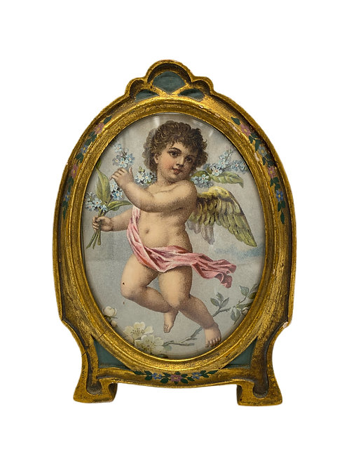 Antique Italian Frame with Cherub