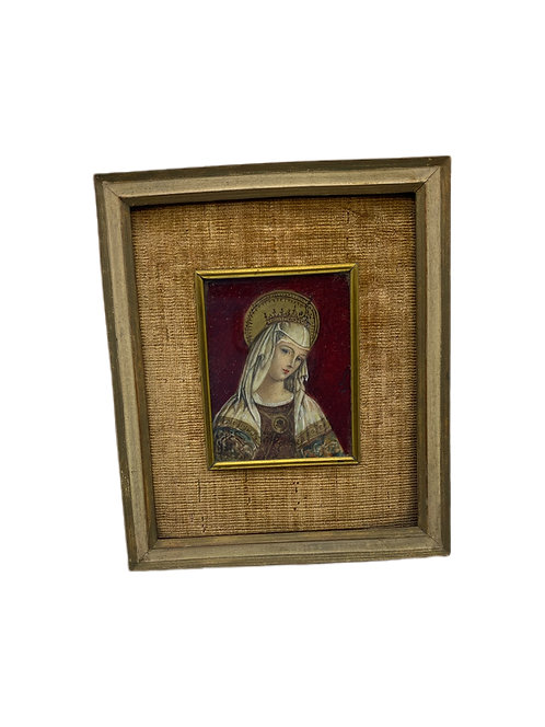 "Hand painted Miniature of ""Madonna Del Crivelli"""