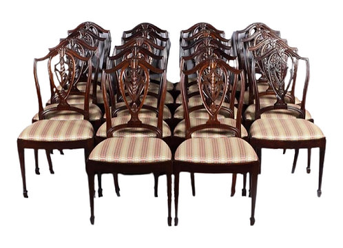 Set of 18 Federal Style Mahogany Dining Chairs