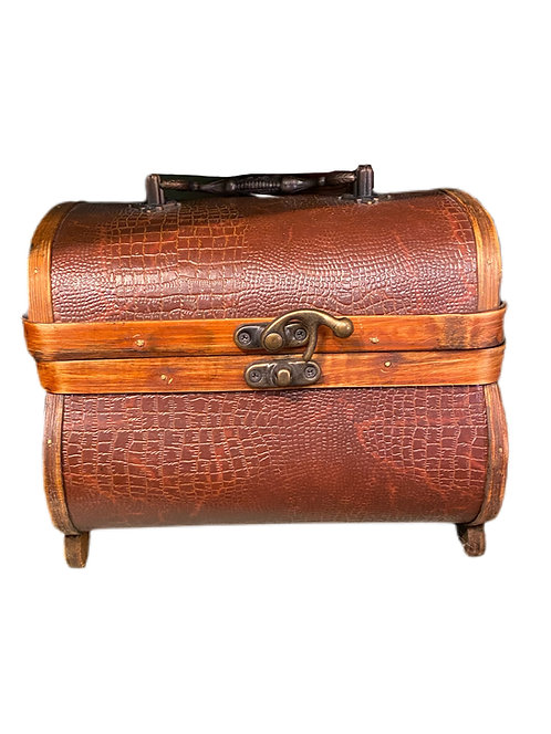 Maroon Leather Box