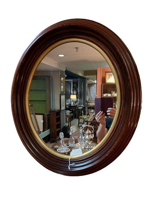 Walnut Oval Frame