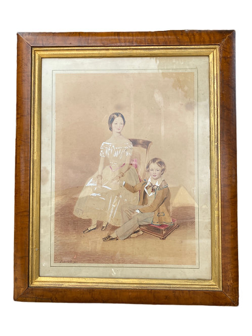 Watercolor Signed P.Belhell circa 1850