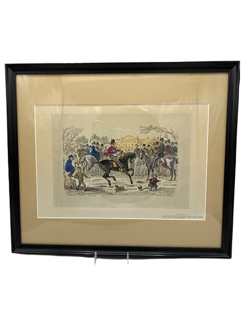 Hand Colored Engraving, Dicken Theme