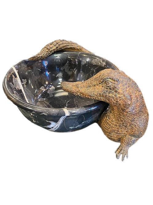 Alligator Bronze around Bowl