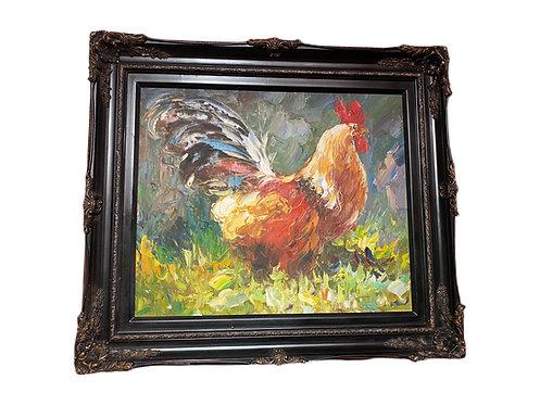Vintage Rooster Painting