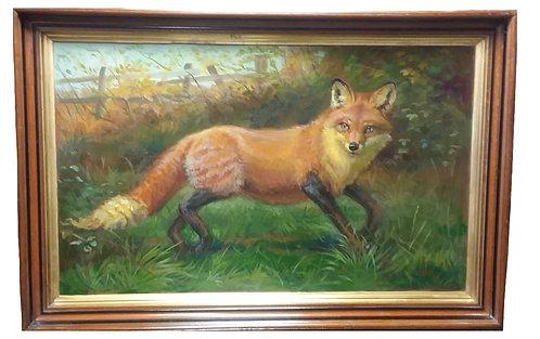 Anthony Barham Oil Fox