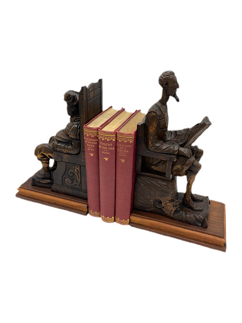 Pair of Handcrafted King Henry VIII Bookends