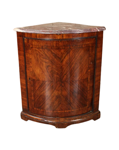 French Louis Philippe Style Corner Cabinet