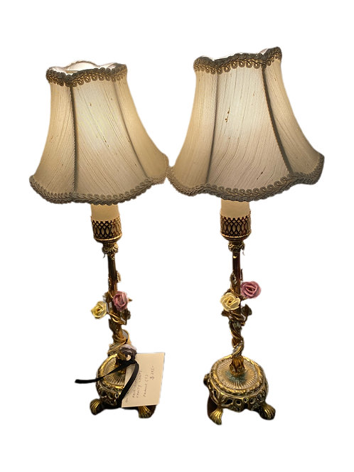Pair of French Vanity Lamps