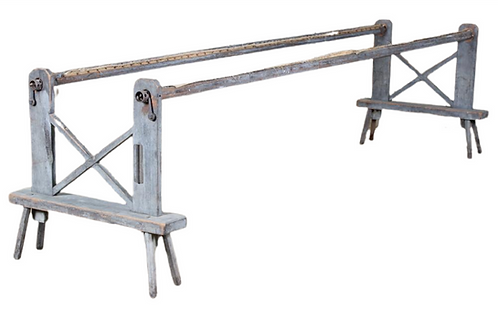 Textile or Quilting Rack with x-form supports