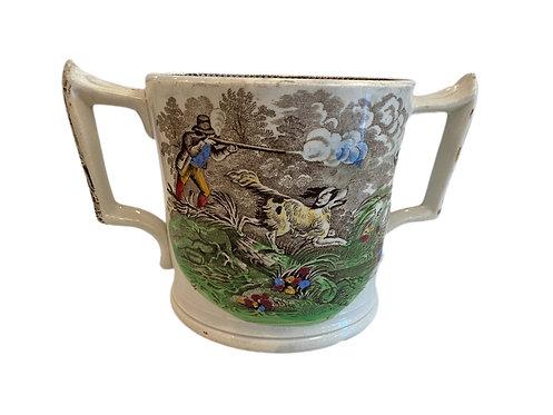 Loving Mug Hunter with Dogs England Circa 1800's